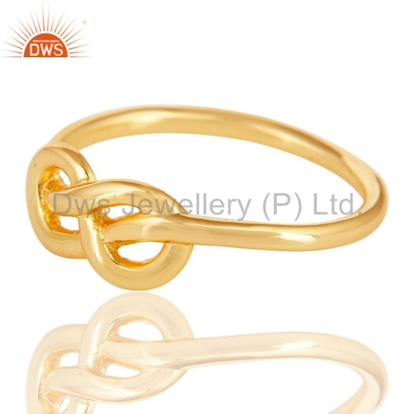 Exporter 14K Yellow Gold Plated 925 Sterling Silver Without Stone Beautiful Fashion Ring