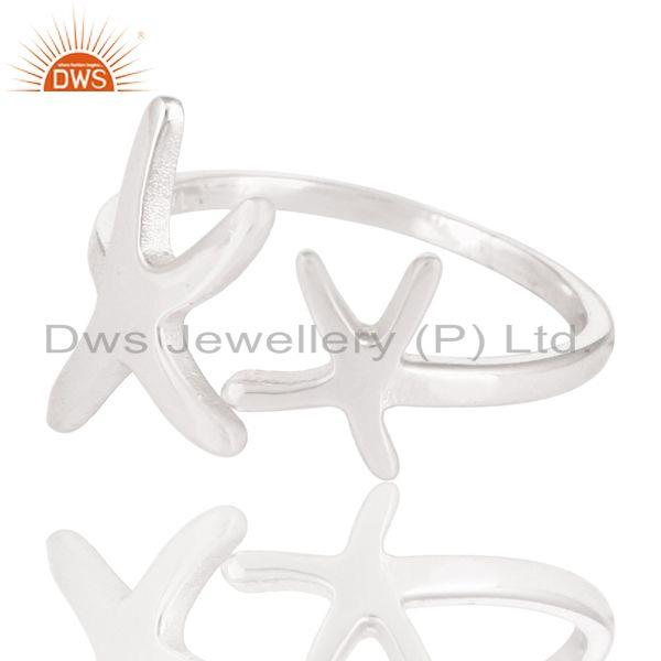 Exporter Solid 925 Sterling Silver Handmade Without Stone Fashion Stackable Ring