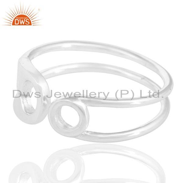 Exporter Solid 925 Sterling Silver Handmade Without Stone Stackable Ring Jewelry