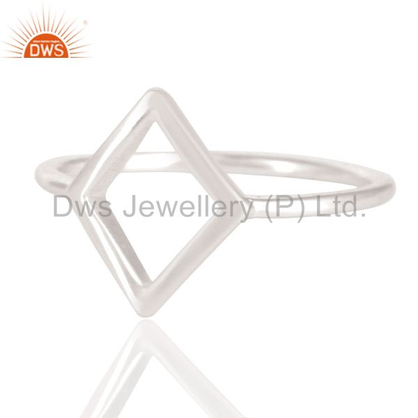 Exporter Solid 925 Sterling Silver Handmade Art Without Stone Fashion Ring