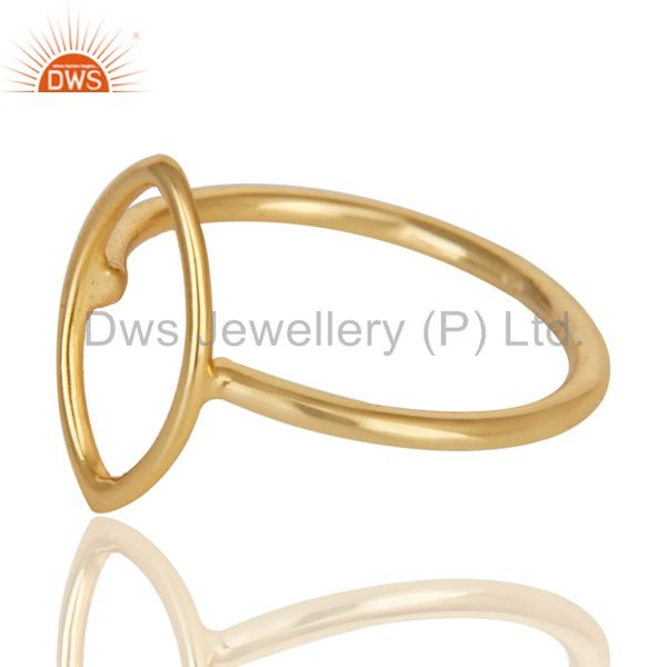 Exporter 14K Yellow Gold Plated Sterling Silver Handmade Without Stone Stackable Ring