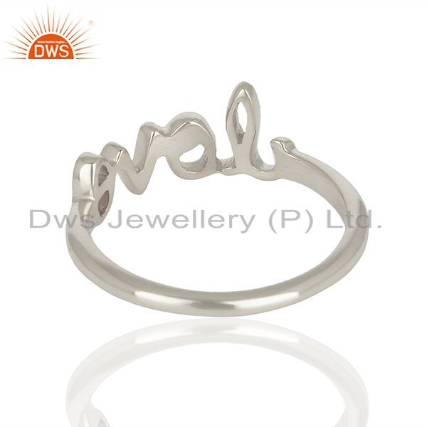 Exporter Initial Love Customized 925 Sterling Fine Silver Ring Manufacturer