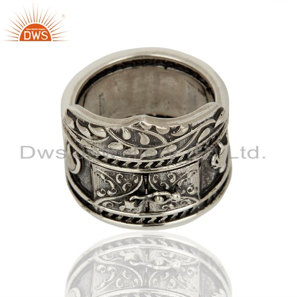 Exporter 925 Silver Oxidized Antique Designer Wedding Rings Jewelry Supplier