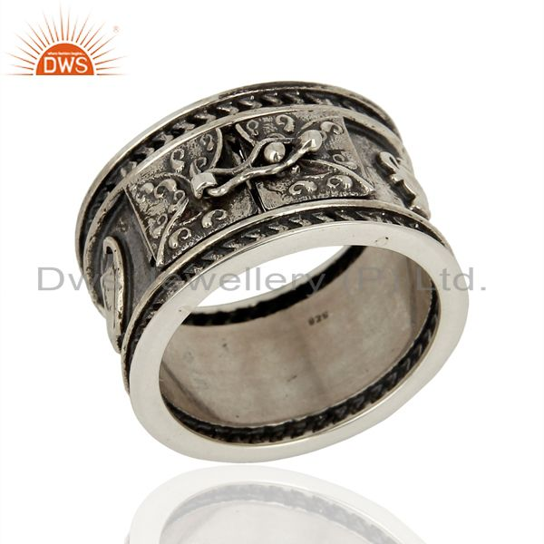 Exporter Handmade Oxidized Antique Silver Engagement Rings Manufacturer