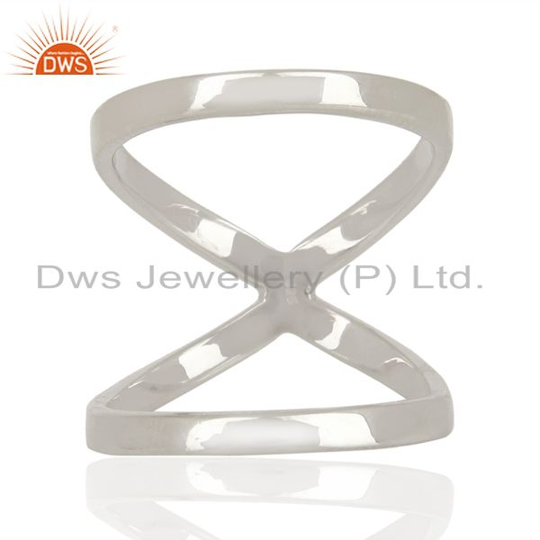 Exporter Designer 925 Sterling Fine Silver Girls Fashion Rings Jewelry Supplier
