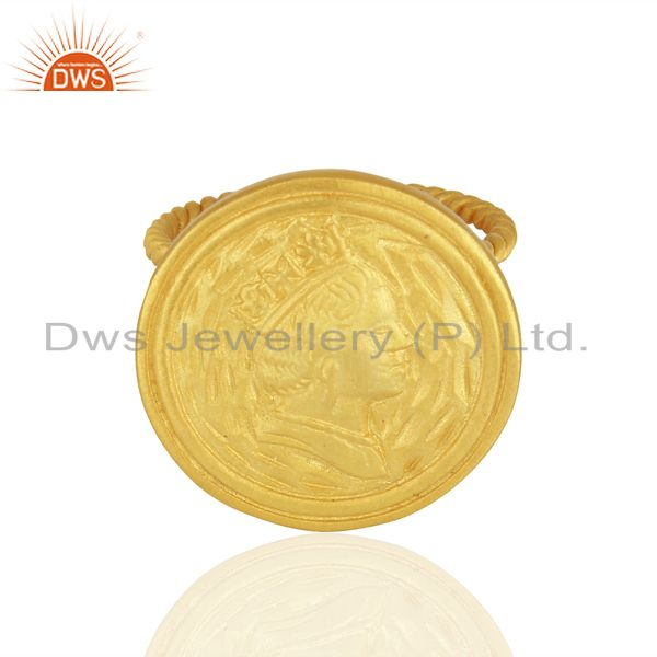 Exporter Designer Handcrafted Gold Plated Silver Fashion Ring Jewelry Supplier