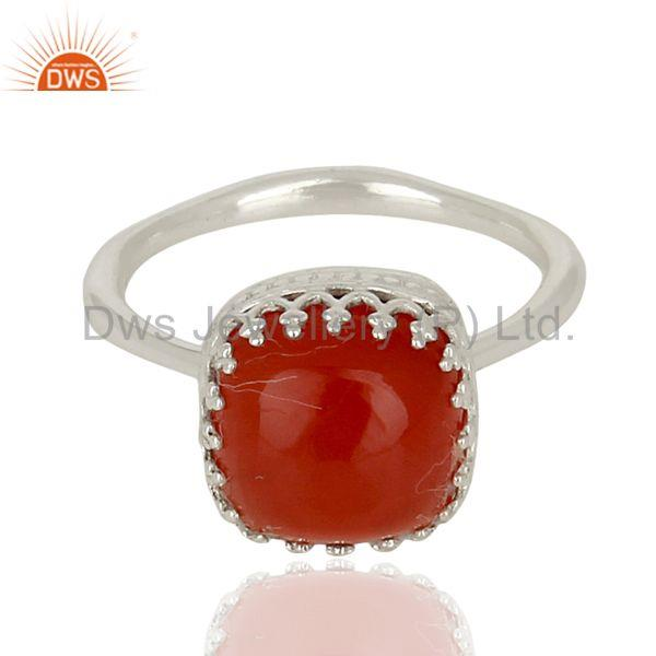 Designers Carnelian Gemstone Ring 925 Sterling Fine Silver Engagement Ring