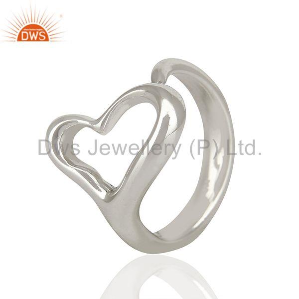 Exporter Open Heart 92.5 Sterling Silver Ring Wholesale Jewelry