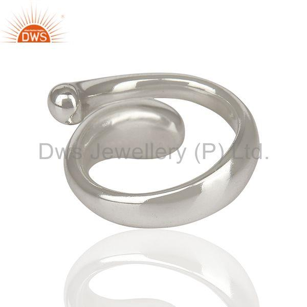 Exporter Stylish And Curvy Snake 92.5 Sterling Silver Ring Wholesale Jewelry