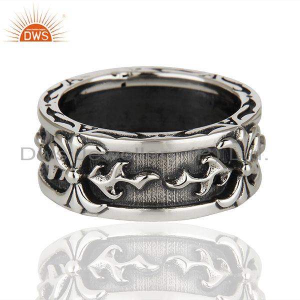 Exporter Designer 925 Sterling Silver Handcrafted Mens Promise Ring Suppliers