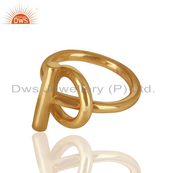 Exporter Customized 925 Silver Gold Plated Unisex Rings Jewelry Manufacturer