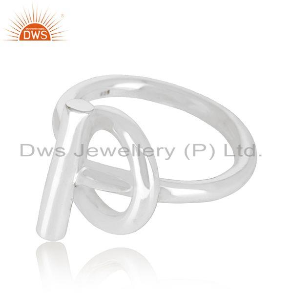 Exporter Spi 925 Sterling Silver White Rhodium Plated Ring Wholesale Jewelry
