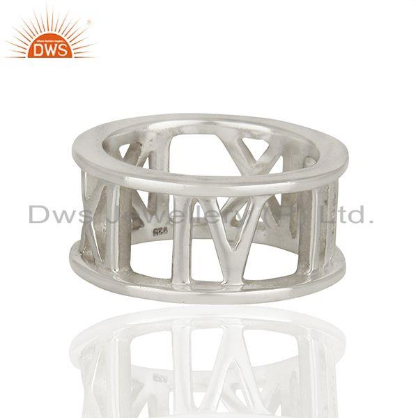 Exporter Designer Style Roman Numeral 925 Sterling Silver Ring Wholesale Jewelry