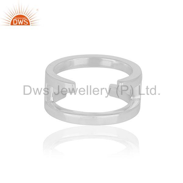 Exporter H Eternity 925 Sterling Silver Ring Band Silver Jewelry Manufacturer