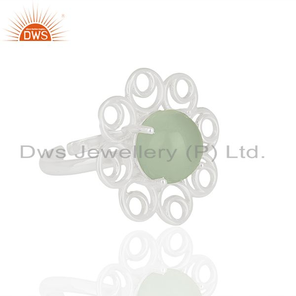 Wholesale 925 Silver Cocktail Gemstone Rings Custom Jewelry Manufacturer