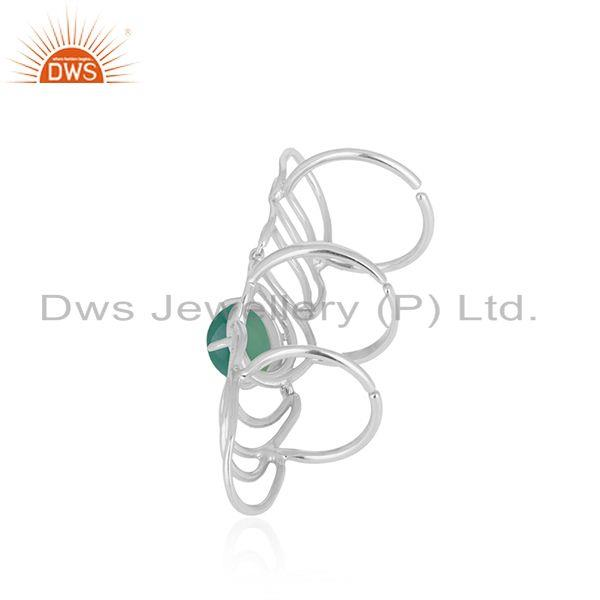 Wholesale Green Onyx Gemstone 925 Sterling Silver Knuckle Ring Manufacturer