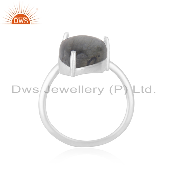 Exporter Handmade 925 Fine Silver Two Gemstone Set Ring Jewelry Manufacturer
