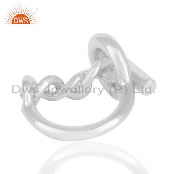 Exporter Customized 925 Sterling Silver Unisex Ring Jewelry Manufacturers