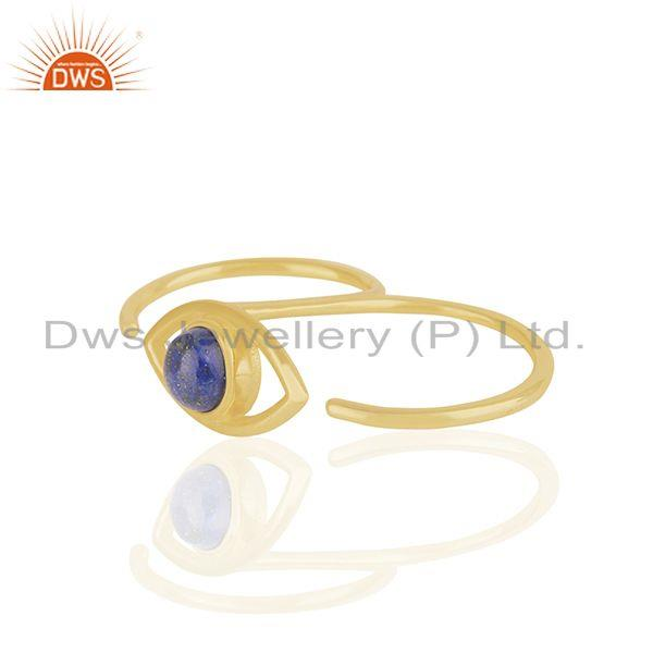 Exporter Handmade 18k Gold Plated 925 Silver Evil Eye Design Multi Finger Ring