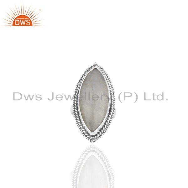 Exporter Antique 925 Sterling Silver Moonstone Cocktail Rings Manufacturer from India