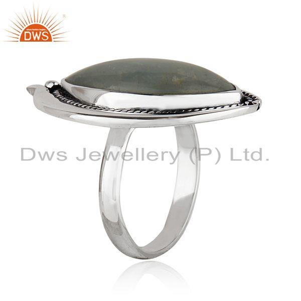 Exporter New Oxidized Plated Silver Aquamarine Gemstone Ring Jewelry