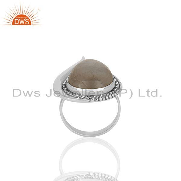 Exporter Rainbow Moonstone 925 Silver Cocktail Rings Manufacturer of Jewelry