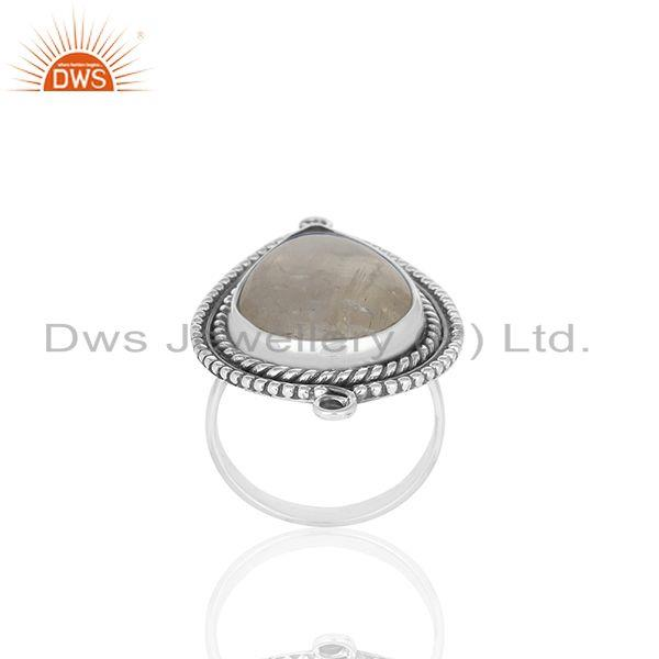 Exporter Indian Handmade 925 Sterling Silver Moonstone Designer Rings Supplier from India