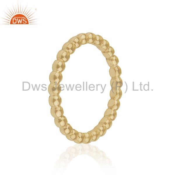 Exporter Designer Yellow Solid 14k Gold Unisex Wedding Band Rings Manufacturer from India