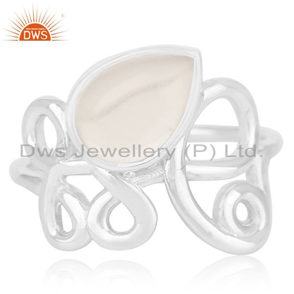 Exporter Crystal Quartz Designer Sterling Silver Gemstone Ring Manufacturer