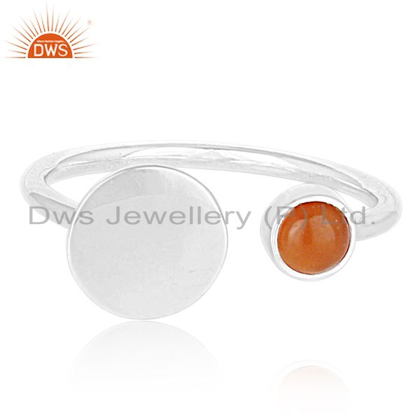 Exporter Customized 925 Silver Gemstone Adjustable Ring Jewelry Manufacturers