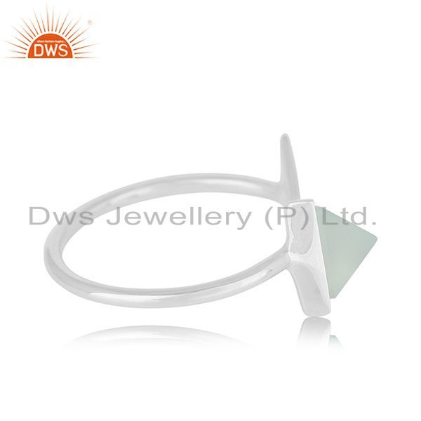 Exporter Multi Triangle Adjustable 925 Silver Gemstone Ring Jewelry For Women