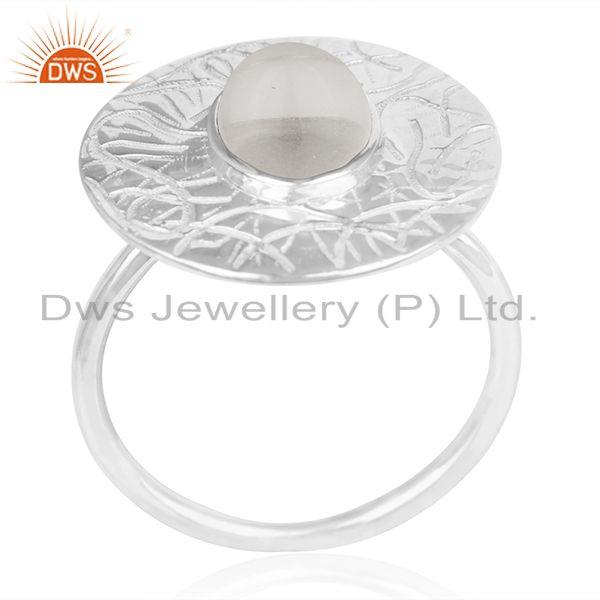 Exporter Hancrafted 925 Silver Crystal Quartz Cocktail Ring Manufacturer