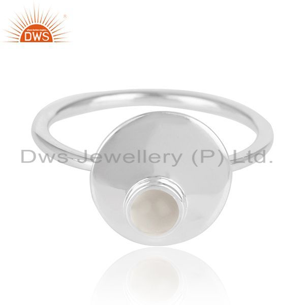 Exporter Crystal Quartz 925 Sterling Silver Stackable Ring Jewelry Manufacturer