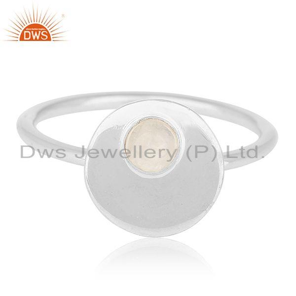 Exporter Handmade Sterling Silver Rainbow Moonstone Ring Manufacturers