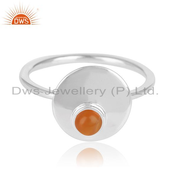 Exporter Handmade Fine Sterling Silver Chalcedony Gemstone Ring Manufacturers