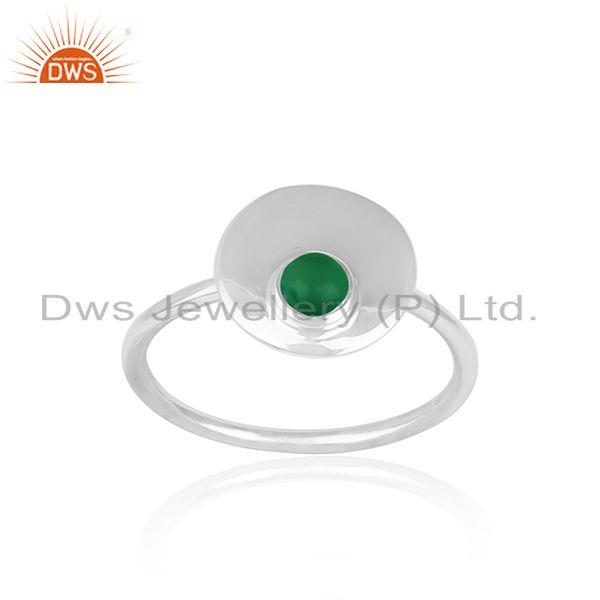 Exporter 925 Sterling Silver Green Onyx Gemstone Handmade Ring Jewelry Manufacturers