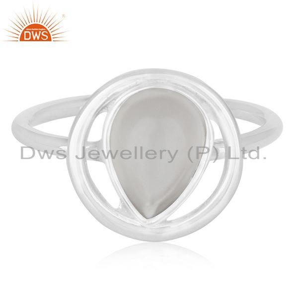 Exporter 92.5 Sterling Silver Crystal Quartz Ring Private Label Jewelry India