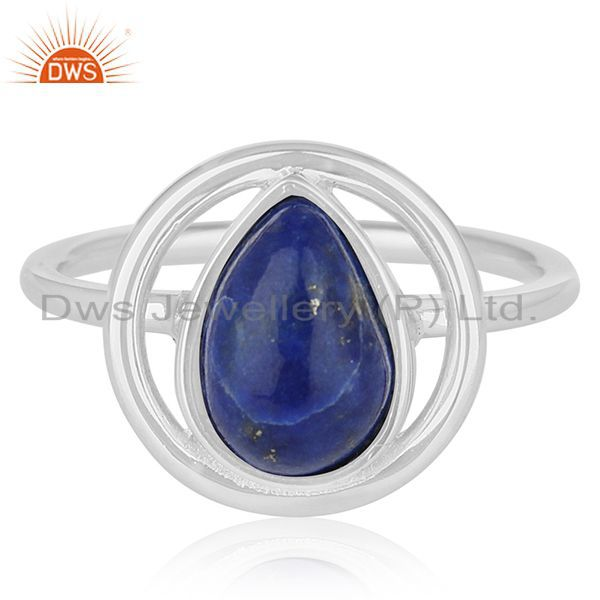 Exporter Lapis Lazuli Gemstone Sterling Silver Designer Ring Jewelry Wholesale