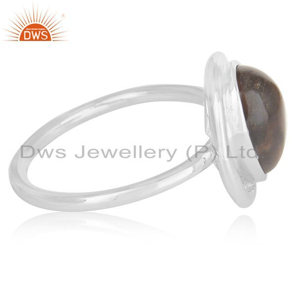 Exporter Smoky Quartz Sterling Silver Ring Manufacturer of Custom Jewelry