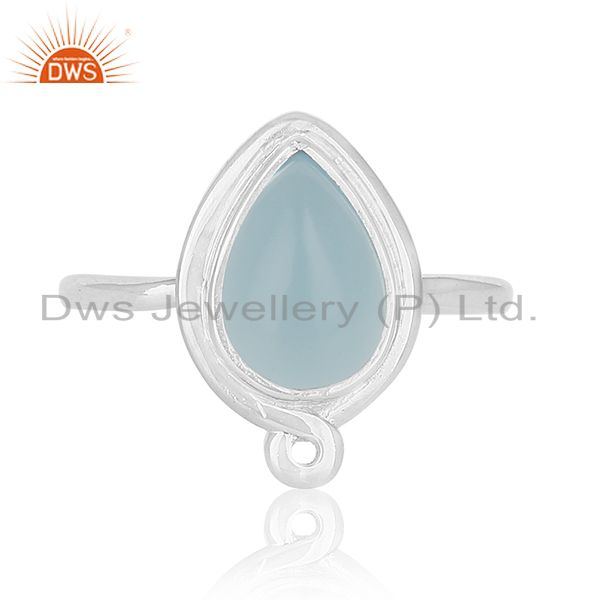 Exporter Chalcedony Gemstone Sterling 925 Silver Ring Women Jewelry Suppliers