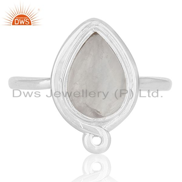 Exporter Rainbow Moonstone 92.5 Silver Ring Customized Jewellery Manufacturer