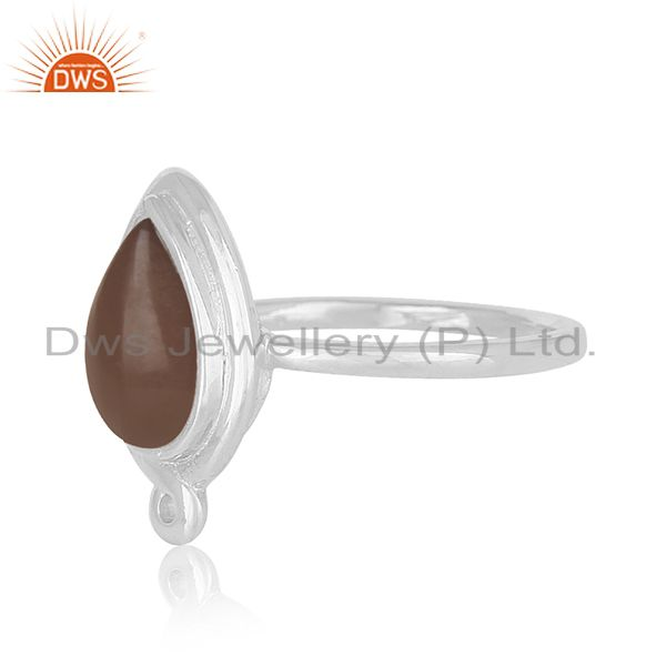 Exporter Private Label Smoky Quartz 925 Silver Ring Jewellery Manufacturers