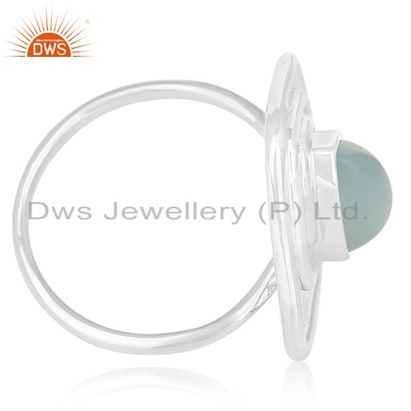 Exporter Designer Sterling Silver Chalcedony Gemstone Ring Jewellery Wholesale