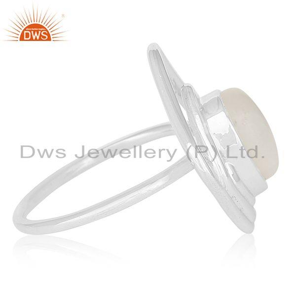 Exporter Designer 925 Sterling Silver Rainbow Moonstone Ring For Women Jewelry