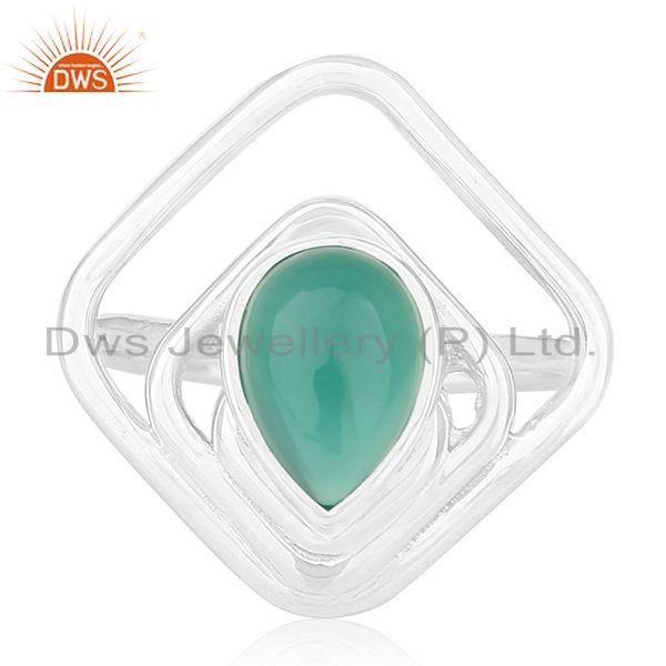 Exporter Green Onyx Gemstone 925 Sterling Silver New Design Ring Manufacturers