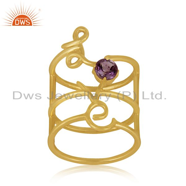 Exporter Gold Plated Sterling Silver Initial Love Customized Ring Manufacturer