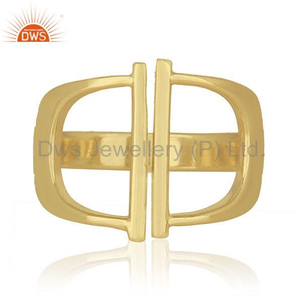 Exporter New Designer Sterling 92.5 Silver Gold Plated Ring Wholesale Suppliers