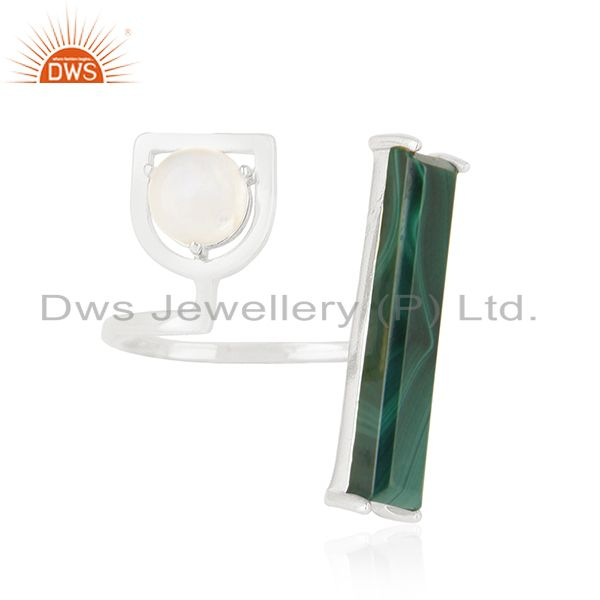 Exporter 925 Sterling Silver Natural Multi Gemstone Ring Wholesale Suppliers