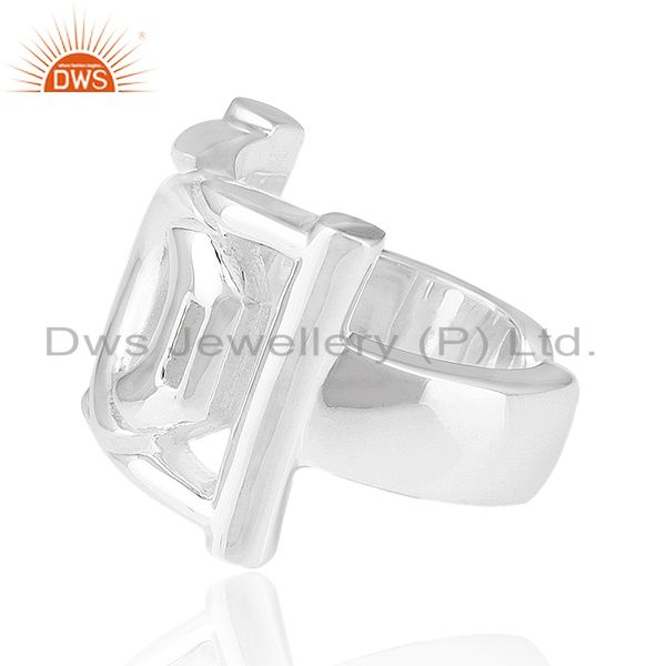 Exporter Solid 925 Sterling Silver Designer Unisex Ring Jewelry Manufacturer from India