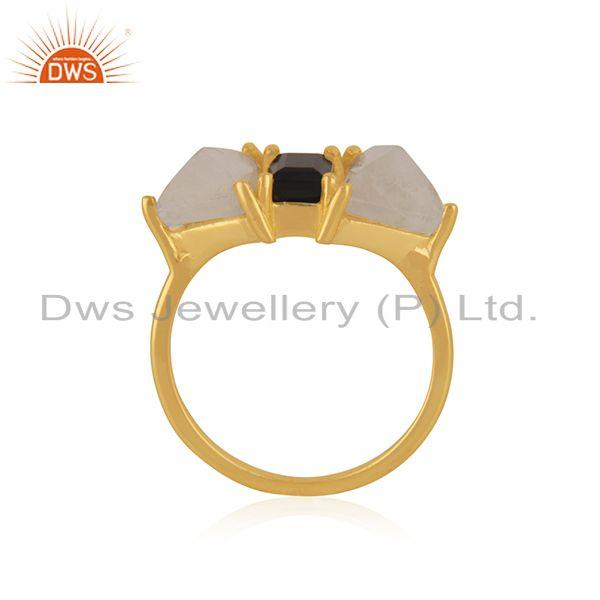 Exporter Gold Plated Brass Fashion Multi Gemstone Ring Manufacturer in India